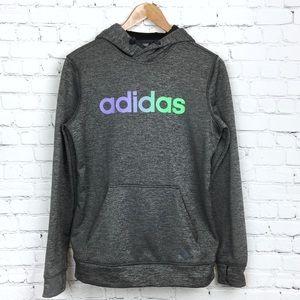 Adidas Climawarm Charcoal Sweatshirt Hooded Grey S